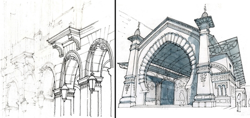 00-Gérard-Michel-Urban-Architectural-Drawings-from-your-Teacher-www-designstack-co