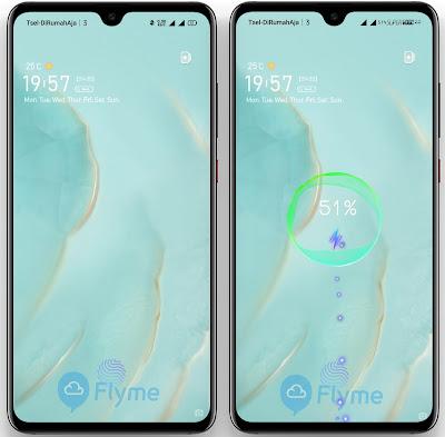 Lockscreen Style Flyme OS Themes for OPPO Realme