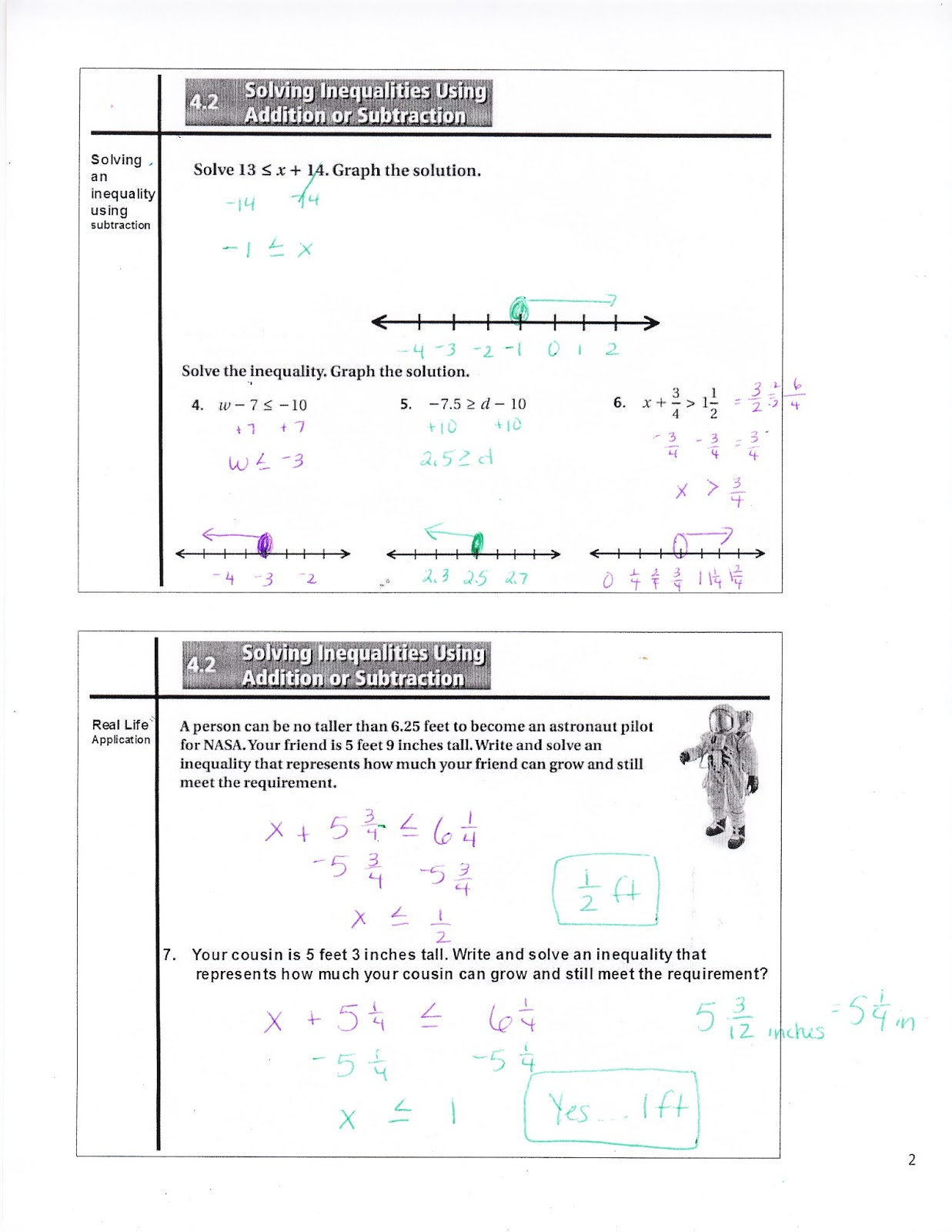 Ms Jean S Classroom Blog 4 2 Solving Inequalities Using Addition Or Subtraction