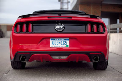 Ford Mustang GT in rear angle Hd image