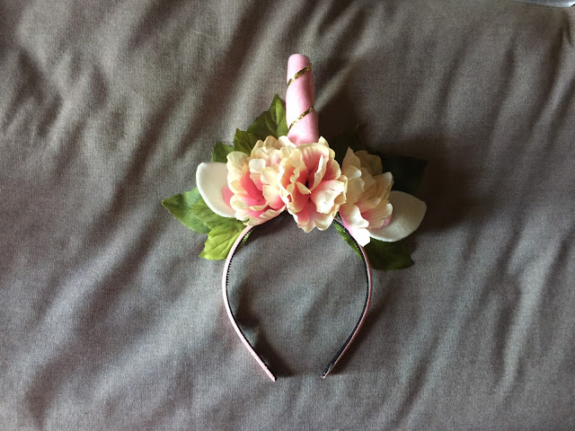 DIY Unicorn Headband with Flowers