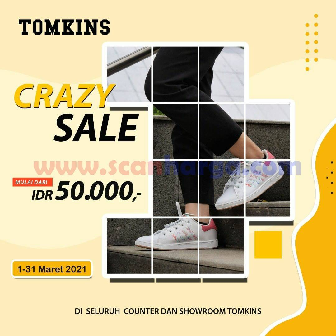 Promo TOMKINS CRAZY SALE! Harga Mulai Rp 50.000