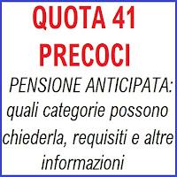 quota 41 per la pensione dei lavoratori precoci