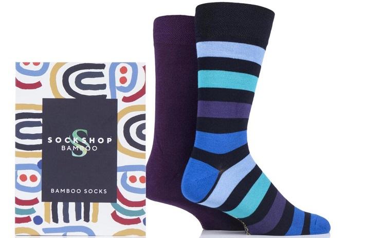 Gift Boxed Bamboo Colour Burst Socks from SockShop