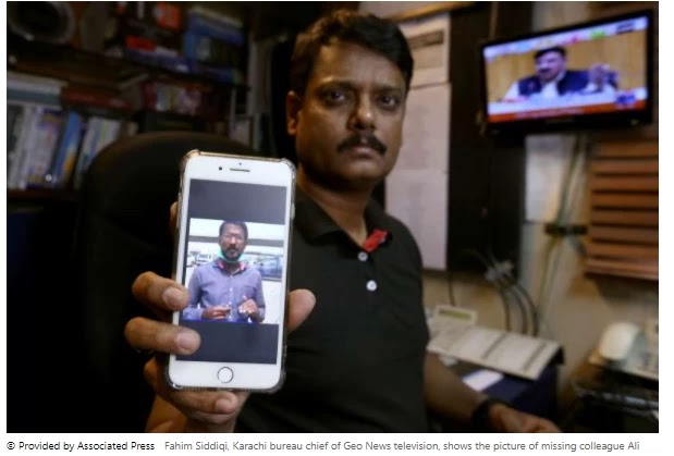 The missing Pakistani TV reporter is found' after 72 hours