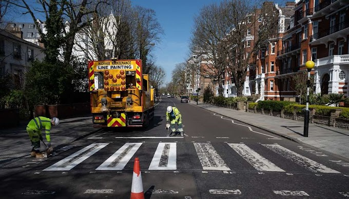 Abbey Road: Βάφεται ξανά ο iconic δρόμος τώρα που κανείς δεν κυκλοφορεί έξω