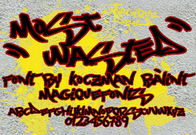 Need For Speed Most Wanted Free Font Graffiti