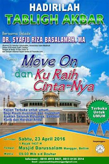 [Download Audio] Kajian Ust. Dr. Syafiq Reza Basalamah MA - Move On dan Kuraih Cinta-Nya