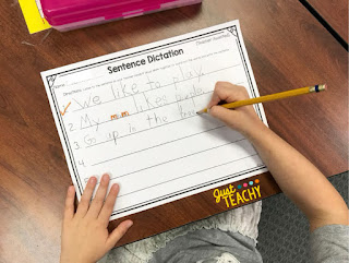 Sentence Dictation writing paper