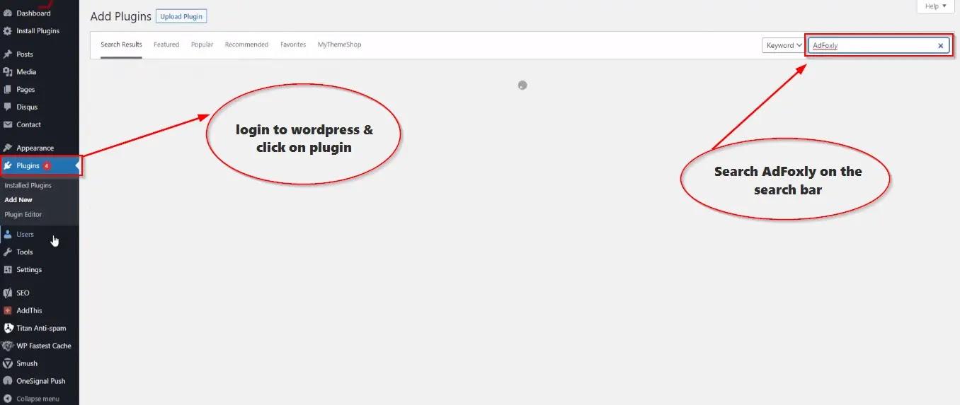 AdFoxly-WordPress-Plugin-install-process