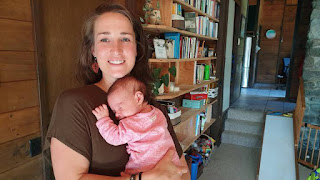 Wellington woman Lindy Jacomb, with her newborn daughter Aria, was excommunicated by the Exclusive Brethren 13 years ago, barely out of her teens. Photo / RNZ