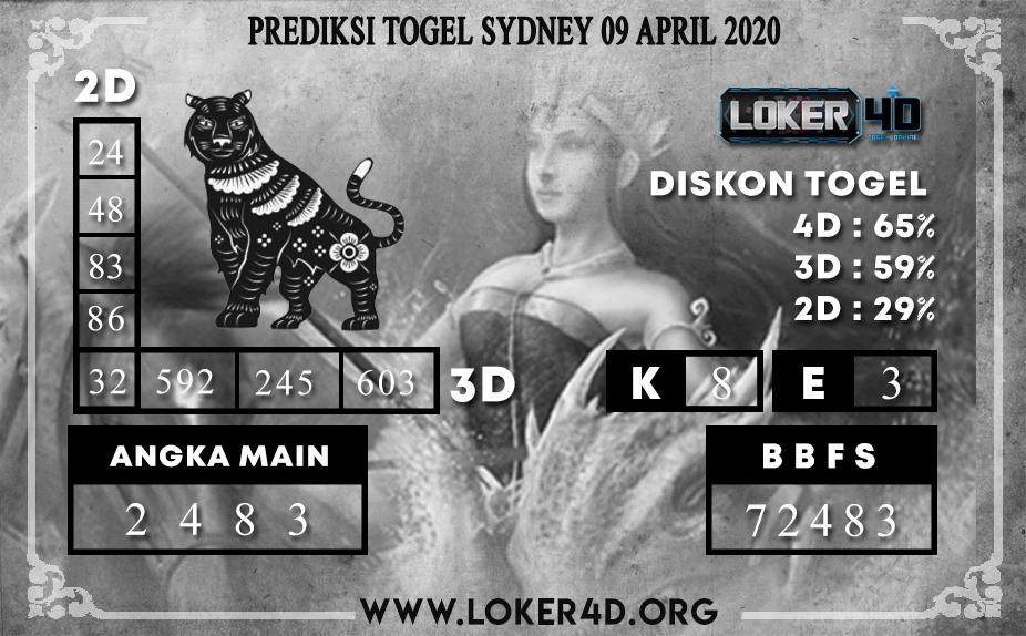 PREDIKSI TOGEL  SYDNEY LOKER4D 09 APRIL 2020