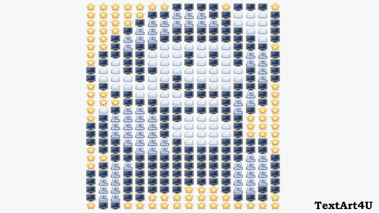 Emoji Text Art Samannetonic
