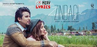 Zindagi Lyrics By A Kay
