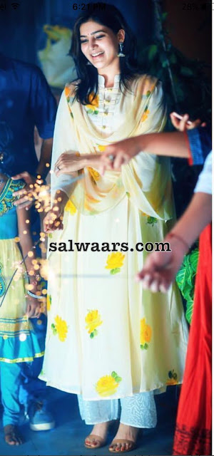 Samantha Rose Printed Salwar
