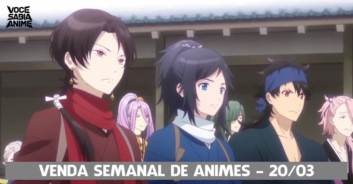 Vendas semanais de animes - 20-03