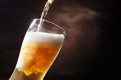 Icelandic beer being poured into a glass