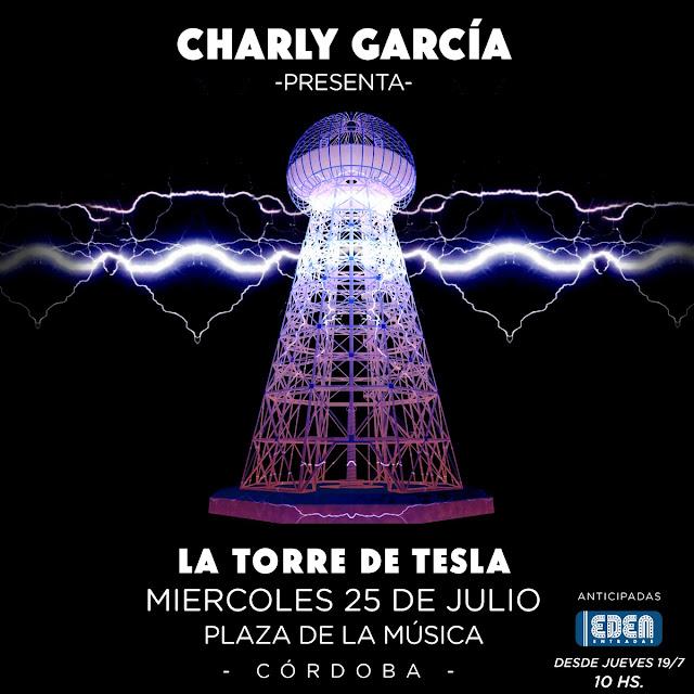 Charly García actuará en Córdoba el 25 de julio