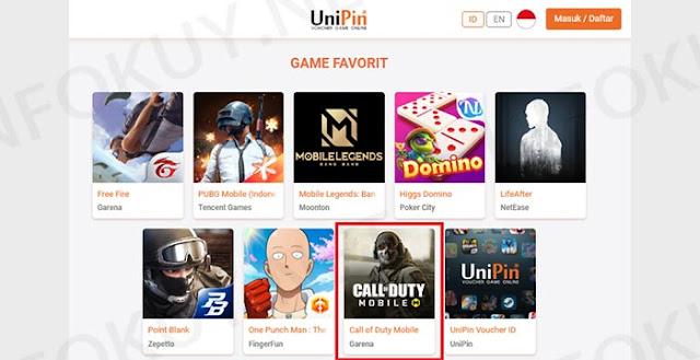 Top up di Unipin