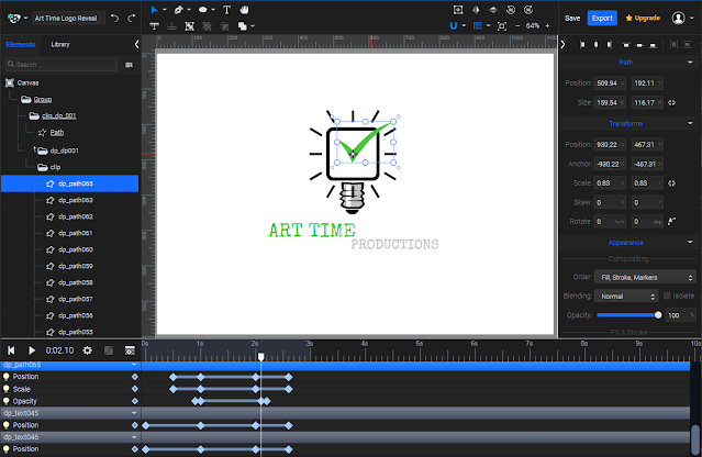 SVGator's Animation Studio should be very familiar to anyone using other animation apps.