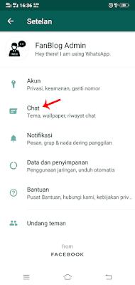 Pilih Menu Chat untuk Mengaktifkan WhatsApp Dark Mode