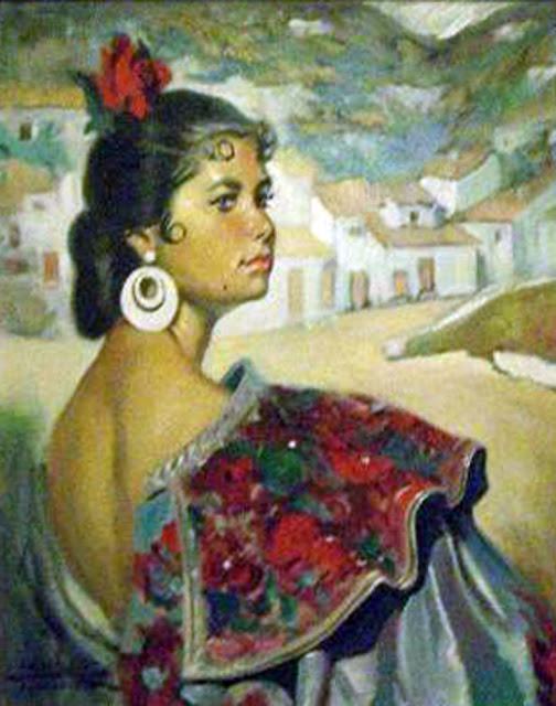 Adolfo Hernández Noda, Maestros españoles del retrato, Pintor español, Pintores Granadinos, Retratos de Adolfo Hernández Noda