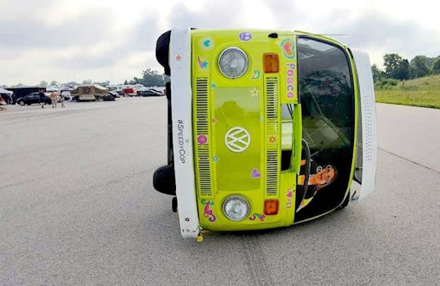 The World's Freakiest Race Car Is This Sideways Volkswagen Bus