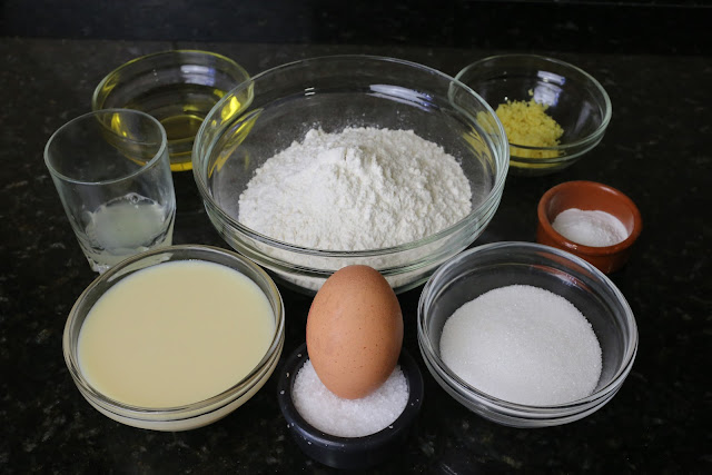 Ingredientes para palillos de limón