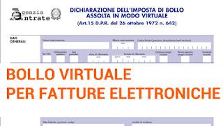Marca da bollo digitale per fatture elettroniche