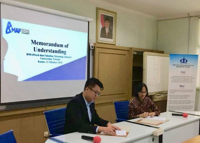 Acara Penandatanganan Kerja Sama Antara Fakultas Teknik Industri (FTI) Universitas Trisakti dan PT. Berkat Mandiri Adiperkasa (BMAPtech), Resmi Dilakukan Pada Tanggal 11 Oktober 2018