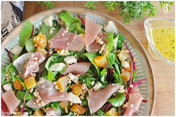 salada de folha de beterraba receita