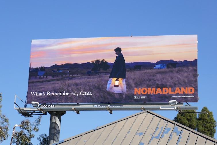 Nomadland Oscar nominee billboard