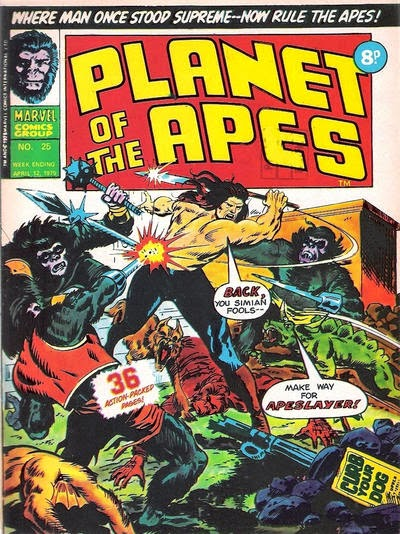 Marvel UK, Planet of the Apes #25, Apeslayer