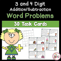 3 and 4 Digit Word Problems using Addition and Subtraction