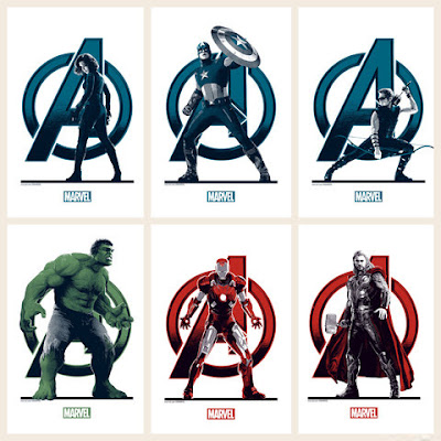 The Avengers Movie Regular Edition Handbill Set by Matt Ferguson & Grey Matter Art