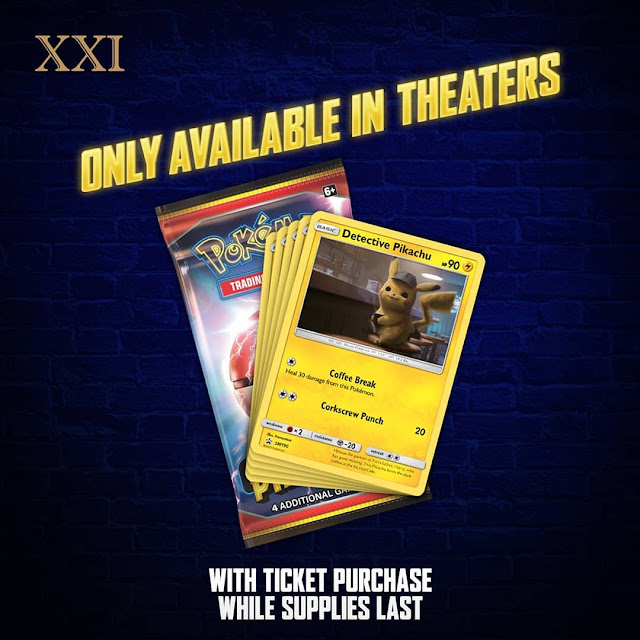 #XXI - #Promo Gratis Ekslusif Trading Card Pikachu Setiap Beli 2 Tiket