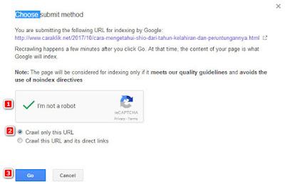 Cara Submit Artikel Blog Ke Mesin Pencari Google