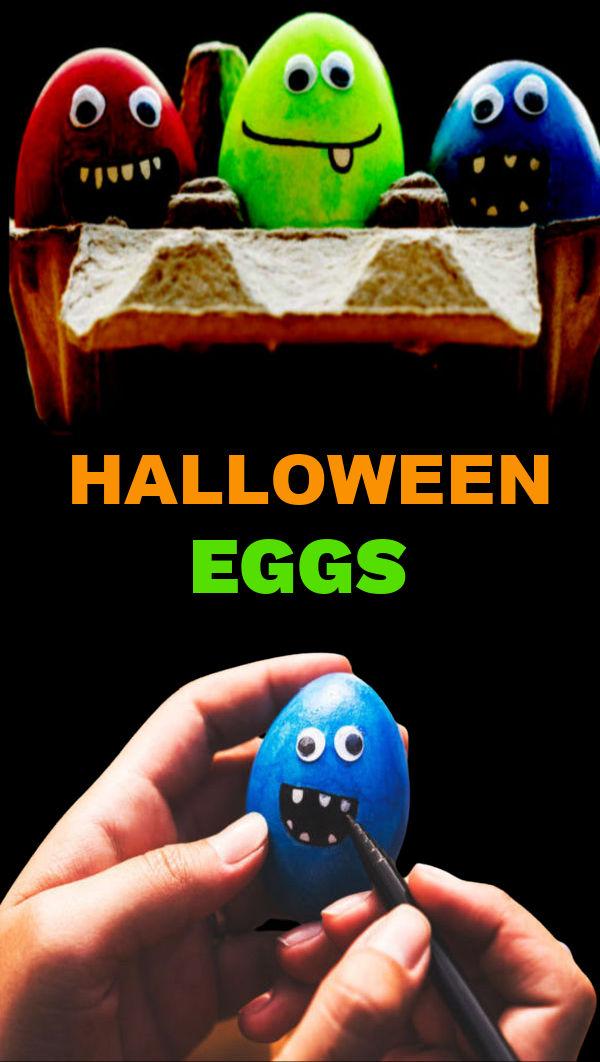 Let Halloween in on the fun this year and decorate spooky eggs! #halloween #halloweeneggs #kidshalloweencrafts #growingajeweledrose #activitiesforkids