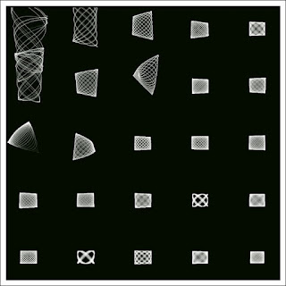 An example monochrome image of the digital art of the weird Lissajous.