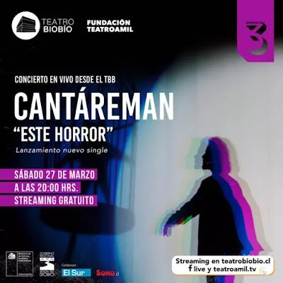 """Cantáreman anuncia el estreno de """"Este horror"""" y presentación online"""