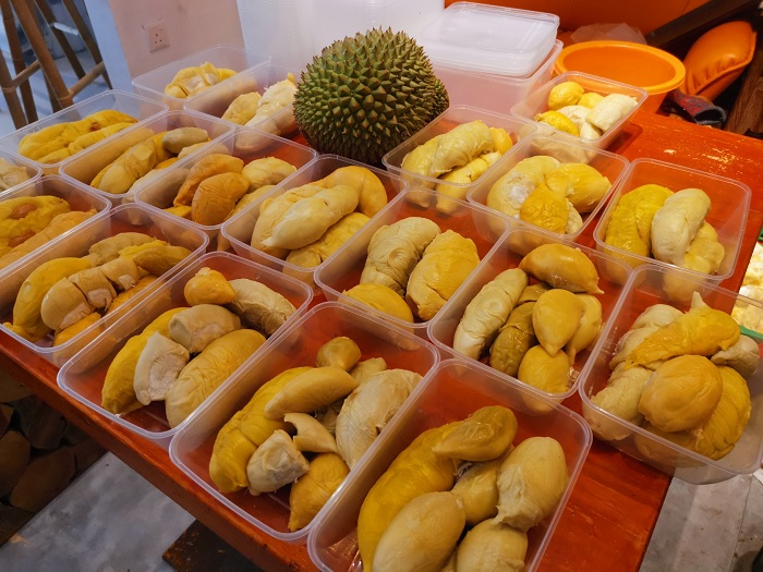 Justberrys Durian Sourced Daily and Locally in Melaka
