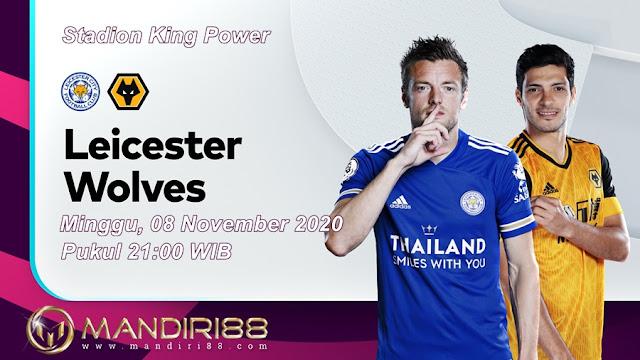 Prediksi Leicester City Vs Wolverhampton Wanderers, Minggu 08 November 2020 Pukul 21.00 WIB @ Mola TV