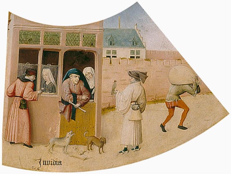 El Bosco - Mesa de los pecados capitales - La envidia