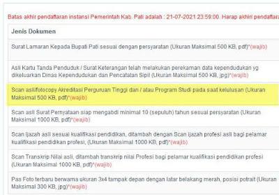 akreditasi prodi cpns ppk 2021