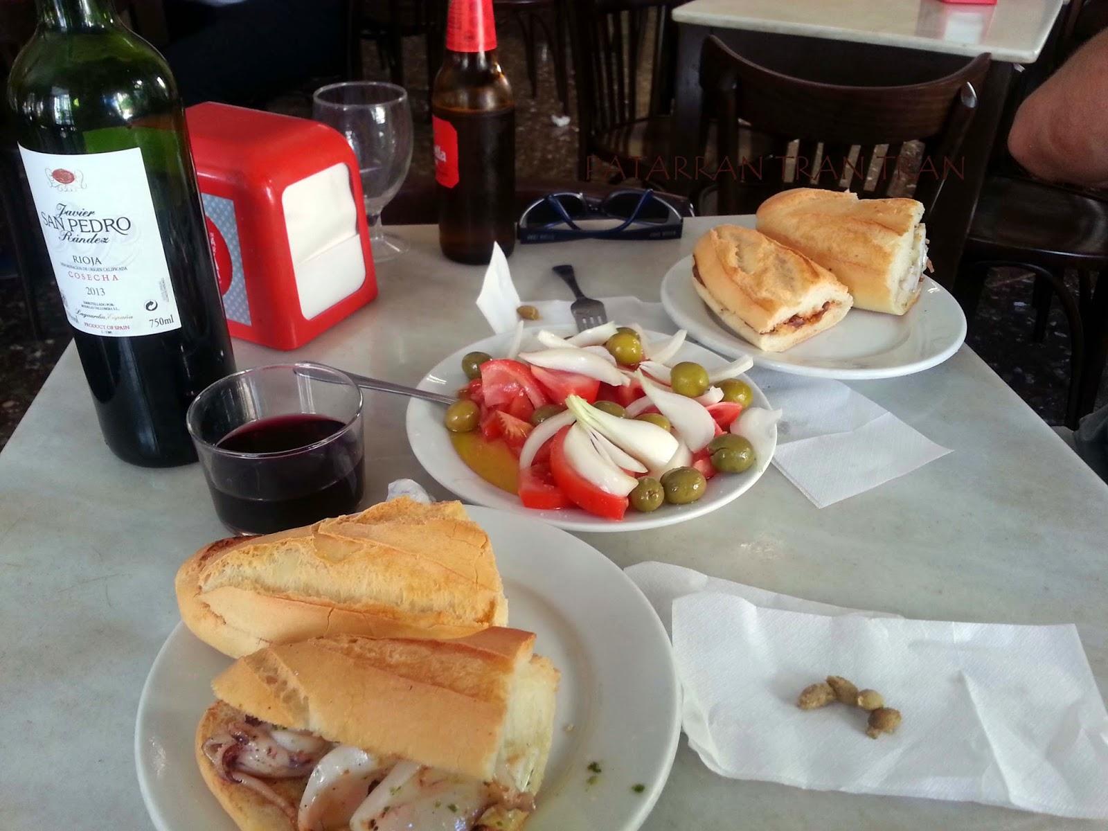 """Torraeta Anchoas. Sepieta. Almuerzos reglamentarios. El """"esmorsar"""" tradicional"""