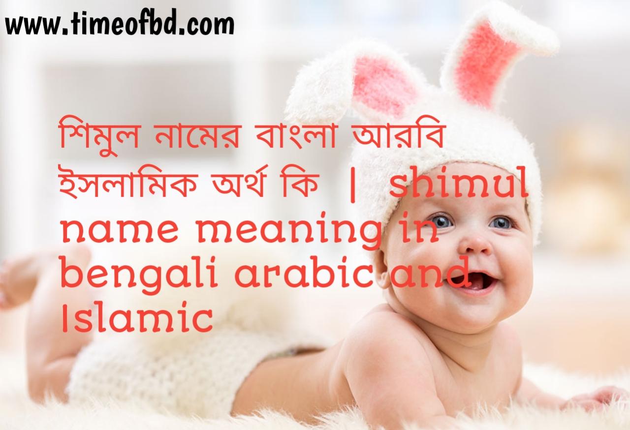 শিমুল নামের অর্থ কী, শিমুল নামের বাংলা অর্থ কি, শিমুল নামের ইসলামিক অর্থ কি, simul  name meaning in bengali
