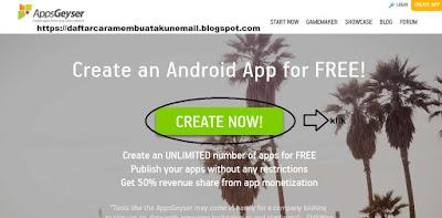 Cara Membuat Aplikasi dan Game Android di Appsgeyser Tanpa Coding