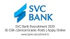 SVC Bank Recruitment 2020: 30 CSR (Clerical Grade) Posts | Apply Online