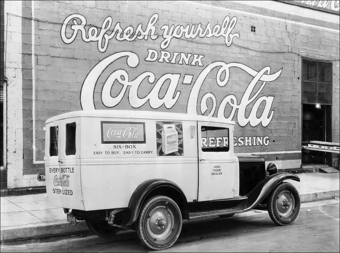 Vintage Photos Of Ford Coca Cola Delivery Trucks From Between The 1941 Panel Truck Model Aa In El Paso Texas 1931