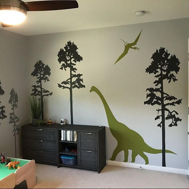 Adesivo de dinossauros para quarto crianças